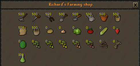 Zybez RuneScape Help's Screenshot of Richard's Farming Shop