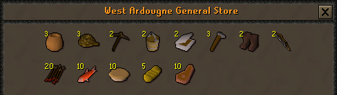 Zybez RuneScape Help's Screenshot of West Ardougne's General Store