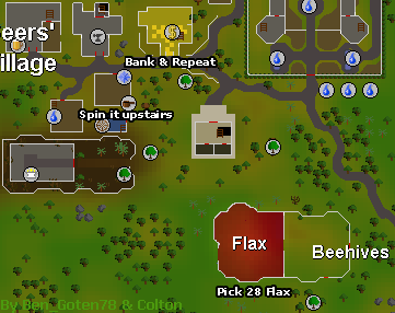 Zybez RuneScape Help's Map of the Flax Field