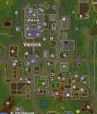Zybez RuneScape Help's Map of Spawn Points in Varrock