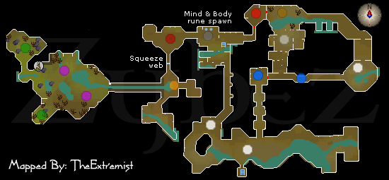 Zybez RuneScape Help's Map of Varrock Sewers