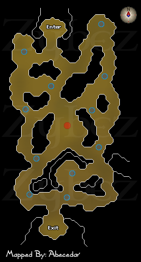 Zybez RuneScape Help's Map to the Giant Mole Den