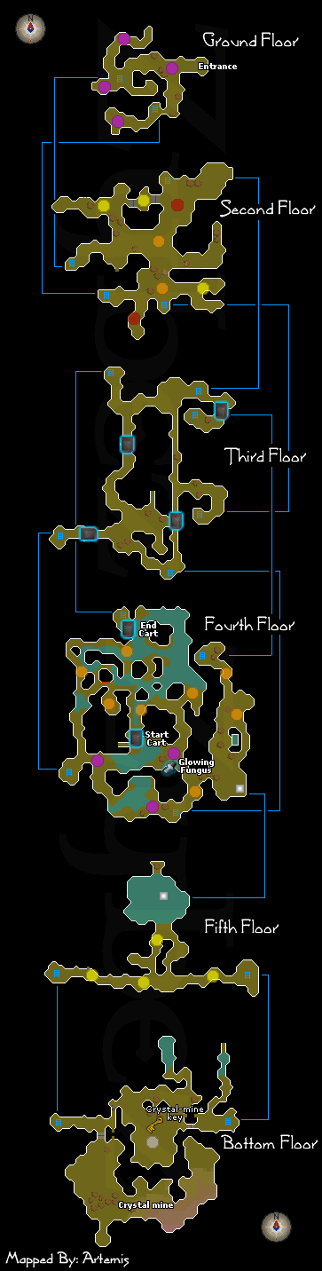 Zybez RuneScape Help's Haunted Mine Dungeon Map