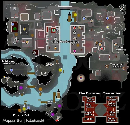 Keldagrim City   Runescape Dungeon Maps   Old School RuneScape Help