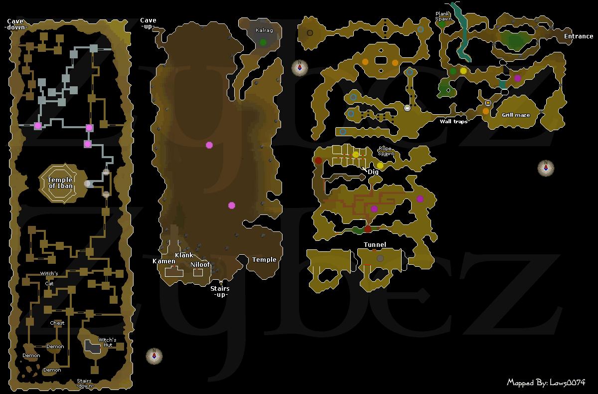 Underground Pass The Runescape Dungeon Maps Old School