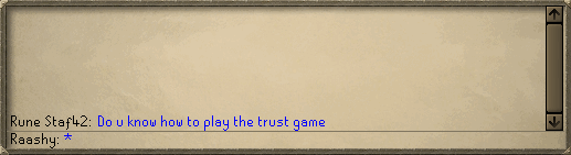 Zybez RuneScape Help's Screenshot Of A Trust Test
