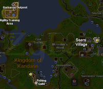 Zybez RuneScape Help's Thumbnail of the Alfred Grimhand Barcrawl Map