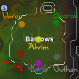 Zybez RuneScape Help's Barrows Tomb Locations Map