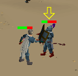 Zybez RuneScape Help's Screenshot of the Arrow Above Your Opponent