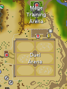 Zybez RuneScape Help's Map of the Area Surrounding the Duel Arena