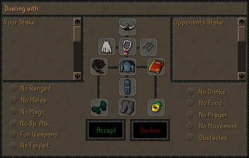 Zybez RuneScape Help's Screenshot of the Duel Arena Rules
