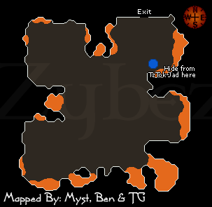Zybez RuneScape Help's Fight Caves Map