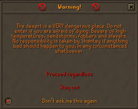 Zybez RuneScape Help's Screenshot of a Warning Screen