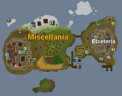Zybez RuneScape Help's Map of Miscellania
