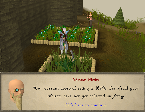 Zybez RuneScape Help's Screenshot of a Player Weeding