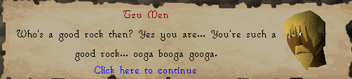 Zybez RuneScape Help's Screenshot of Talking to a Pet Rock