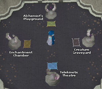 Zybez RuneScape Help's Screenshot of the Portals in the Mage Training Arena