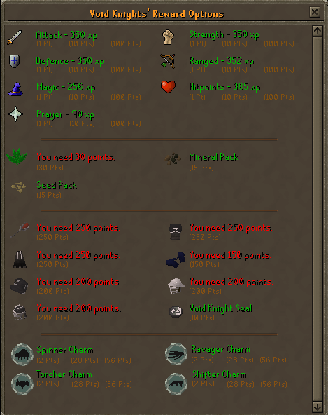 Zybez RuneScape Help's Rewards Screen