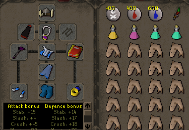 Zybez RuneScape Help's Screenshot of P2P Single Ancient Magick Equipment and Inventory
