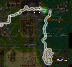 Zybez RuneScape Help's Screenshot of the Route from Varrock to Mort'ton