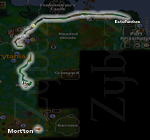 Zybez RuneScape Help's Screenshot of the Route from the Ectofuntus Using the Shortcut Under the Bar