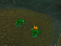 Zybez RuneScape Help's Screenshot of the Frog Prince Random Event
