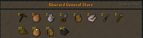 Zybez RuneScape Help's Screenshot of the General Store
