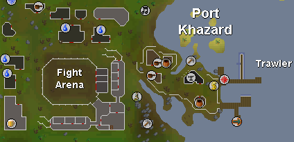 Zybez RuneScape Help's Screenshot of the Map of Port Khazard