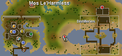 Zybez RuneScape Help's Map of Mos Le'Harmless