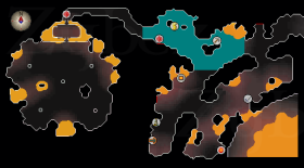 Zybez RuneScape Help's Map of where the Fight Cave Entrance is