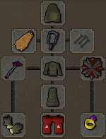 Zybez RuneScape Help's Screenshot of Suggested Magic Equipment for Dagannoth Fighting