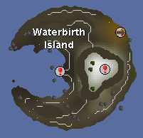 Zybez RuneScape Help's Map of Waterbirth Island