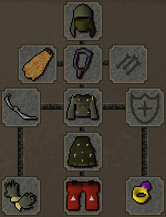 Zybez RuneScape Help's Screenshot of Suggested Ranged Equipment for Dagannoth Fighting