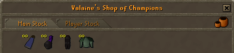 Zybez RuneScape Help's Screenshot of Valaine's Shop of Champions