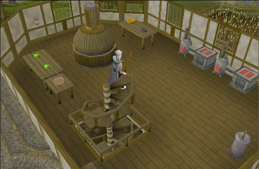 Zybez RuneScape Help Map of the Cooks' Guild Second Floor