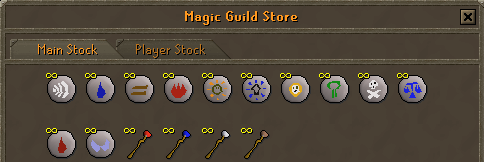 Zybez RuneScape Help's Magic Guild Rune Shop Screenshot