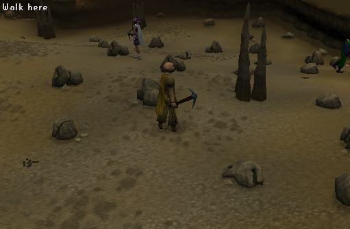 Zybez RuneScape Help's screenshot of the mining guild underground