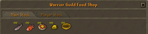 Zybez Runescape Help's Image of the Warriors Guild Food Shop