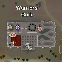 Zybez RuneScape Help Screenshot of Warriors' Guild Map