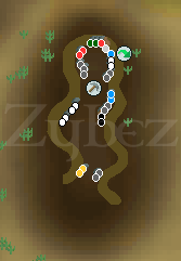 Zybez RuneScape Help's Map of the Al-Kharid Chasm Mine