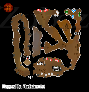 Zybez RuneScape Help's Map of the Tourist Trap Dungeon