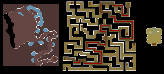 Zybez Runescape Help's map of Scaraba's Labyrinth