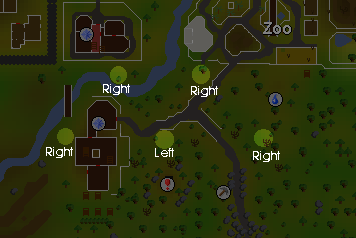 Zybez RuneScape Help's Map of How to Turn the Valves