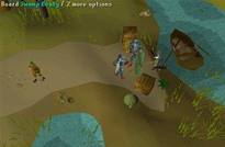 Zybez RuneScape Help's Screenshot of Boarding the Swamp Boat