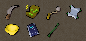 Zybez RuneScape Help's Screenshot of the Items Collected