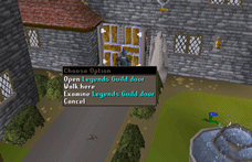Zybez RuneScape Help's Screenshot of the Legends Guild Door