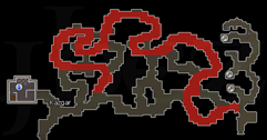 Zybez RuneScape Help's Map of the Maze Route