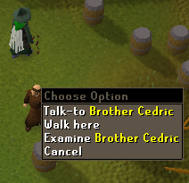 Zybez RuneScape Help's Screenshot of Talking to Brother Cedric