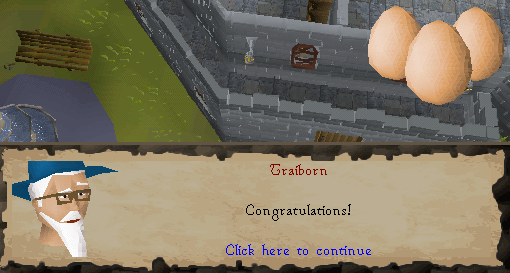 Zybez RuneScape Help's Image of Trailborn Congratulating You