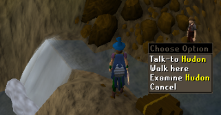 Zybez RuneScape Help's Screenshot of Talking to Hudon